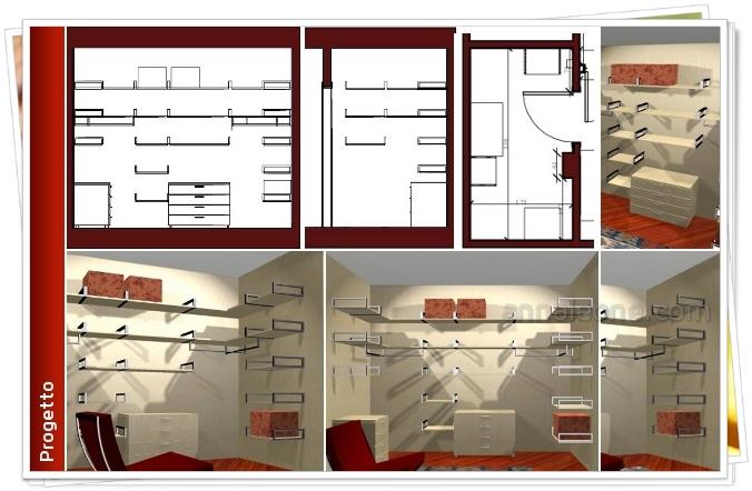 Progetto armadio un progetto con rendering inizia con una for Progettare le proprie planimetrie