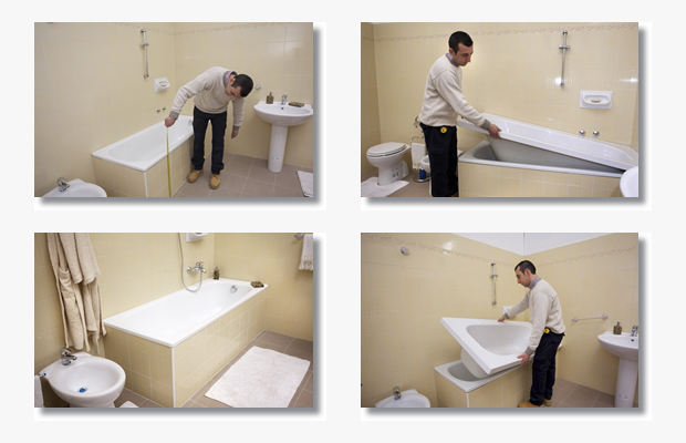 Come valorizzare il bagno datato anna leone architetto - Rinnovare vasca da bagno ...