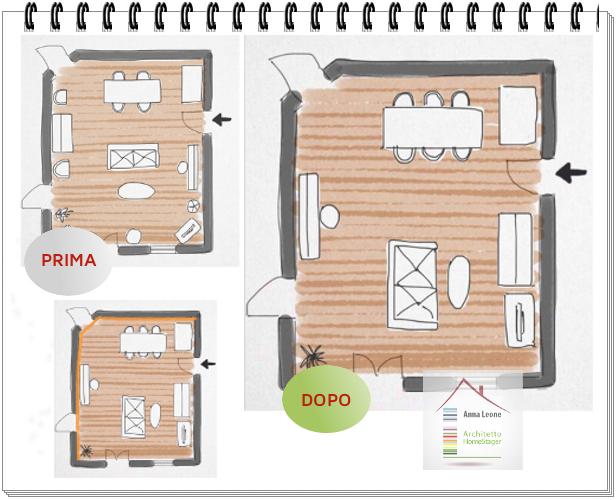 Rinnovare il soggiorno anna leone architetto for Disposizione mobili soggiorno
