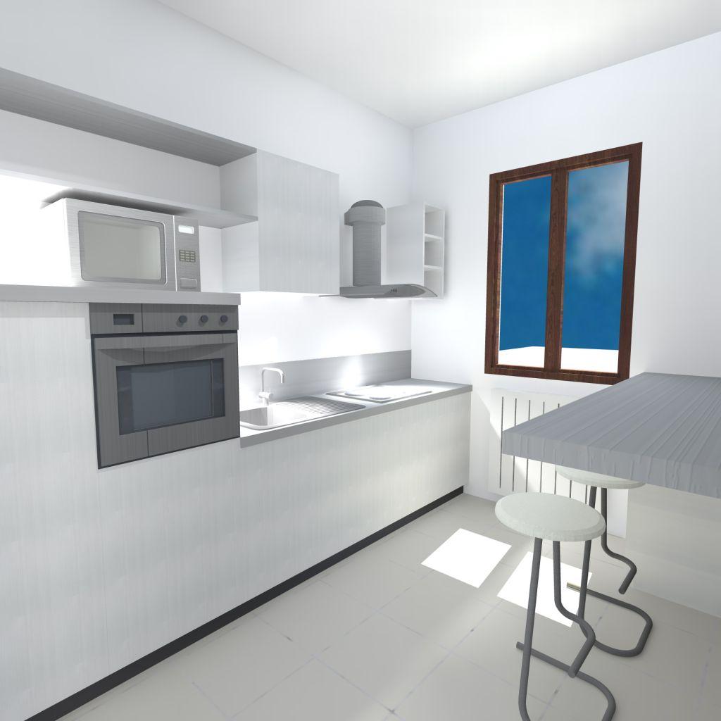 Cucina con parete lavagna