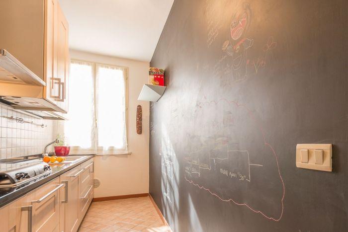 Come trasformare la tua cucina in un ambiente unico con la - Parete lavagna cucina ...